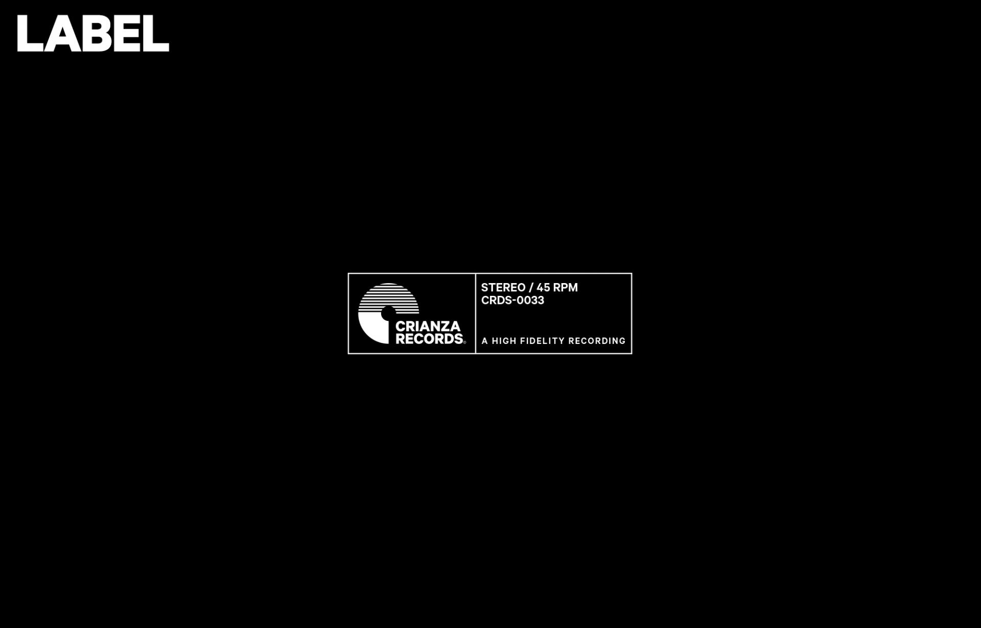 HORACIO LORENTE — Art Director Crianza Records ∎